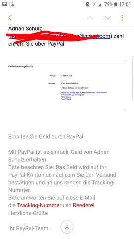 ware zurückgeschickt kein geld erhalten paypal