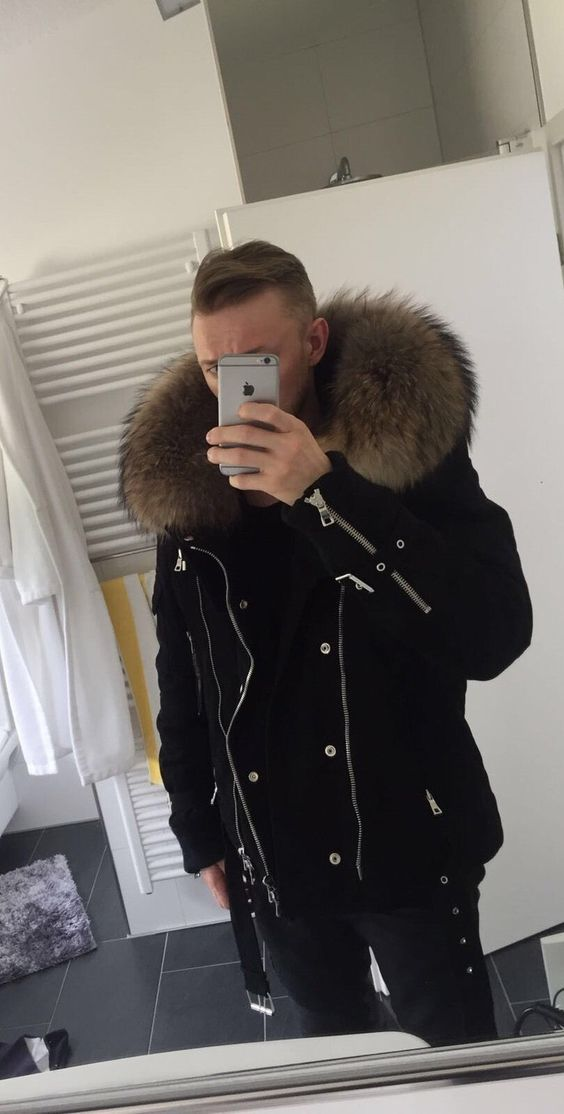 Jacken mit echt pelz