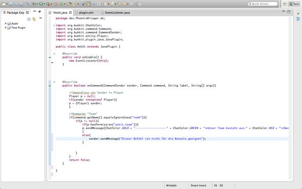 Eclipse - (Minecraft, programmieren, Plugin)