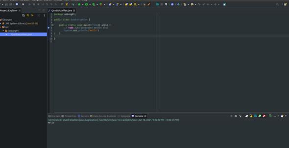 Eclipse auf Ubuntu wie kann man den Trennstrich entfernen?