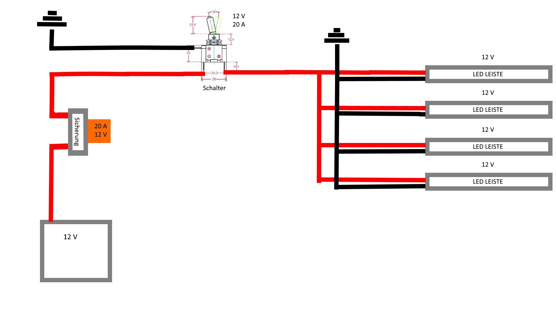 Eigenbau - Richtige LED Installation im KFZ? (Auto, Elektronik ...