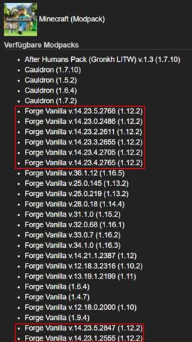 Eigene Forge Version Minecraft Server (Nitrado)?