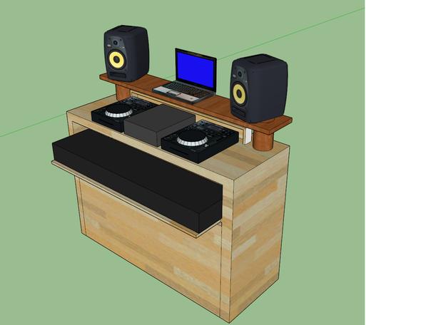 Das ist der nachzubauende Tisch! - (bauen, Möbel, Holz)