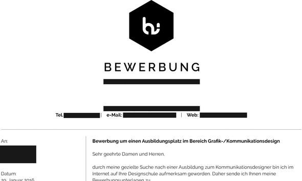 persnliche daten mit schwarz zensiert ausbildung bewerbung design - Bewerbung Schler
