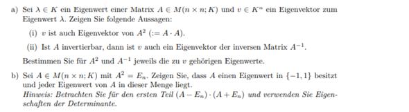 Eigenwerte einer Matrix?