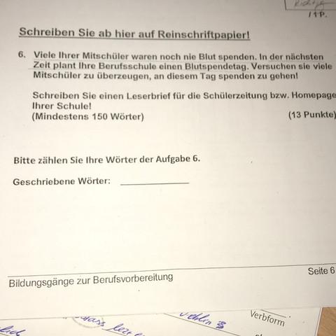 Ein Deutschprüfung Brief Schreiben