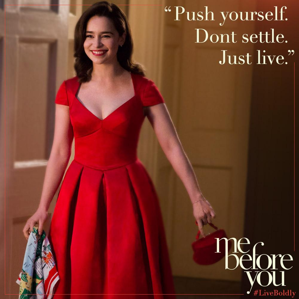 Ein Ganzes Halbes Jahr Rotes Kleid Film Mode Kleidung