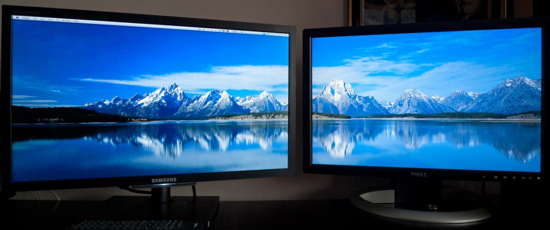 Ein Hintergrundbild Auf 2 Monitore Computer Pc Monitor