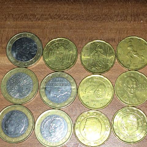 Ein paar münzen die ich gefunden habe - (Muenzen, selten, 1 Euro)