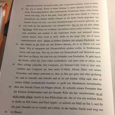 Eine Interpretation Zu Hauptsache Weit Schule Deutsch