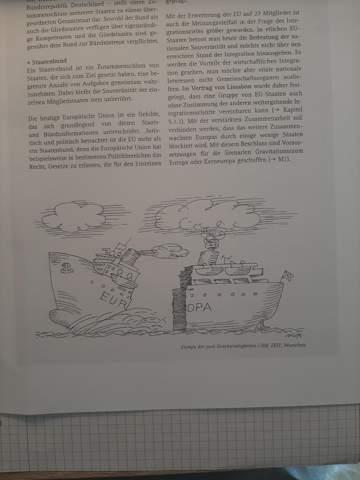 Eine Karikatur in Politik analysieren?
