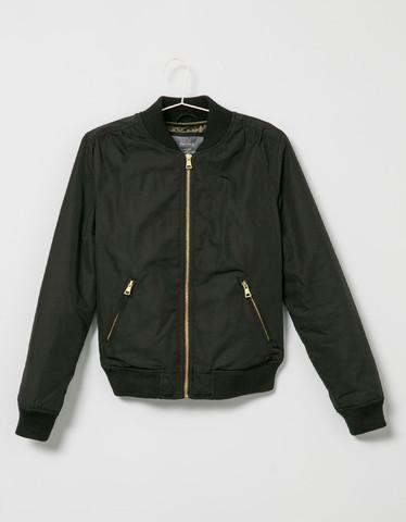 schwarze jacke - (Farbe, bomberjacke)