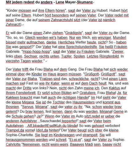 Eine übersetzung Oder Interpretation Für Einen Deutschen Text Zu