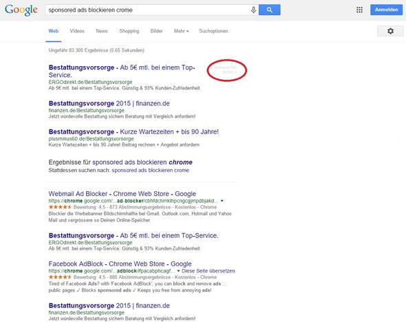 Ads trotz Adblock - (Google, Windows 10, Chrome)