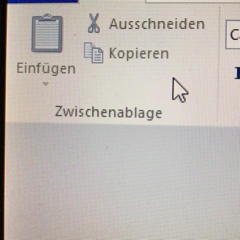 """die linke schaltfläche """"einfügen"""" - (Computer, Schule, Windows 10)"""
