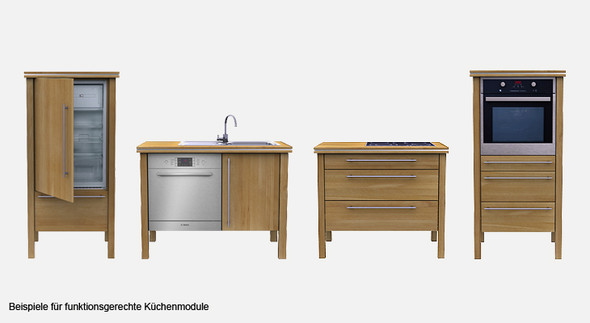 Beispiel Küchenmodule (c) modulküche.com - (Küche, Möbel)