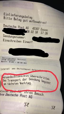 Einschreibenwann Kommt Es Post Versand Brief