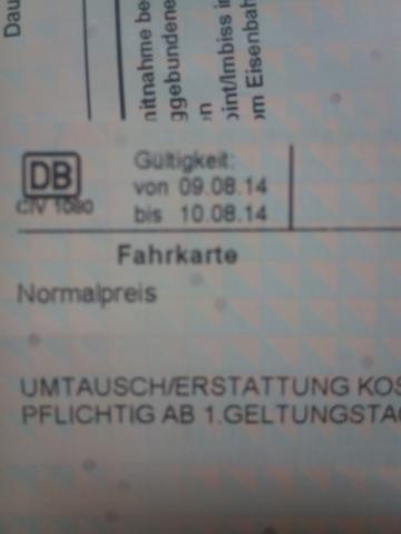 Ticket - (Bahn, Ticket, Gültigkeit)