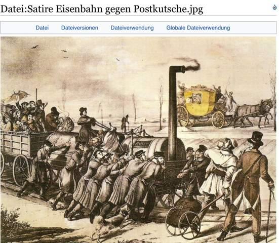 Eisenbahn gegen Postkutsche?