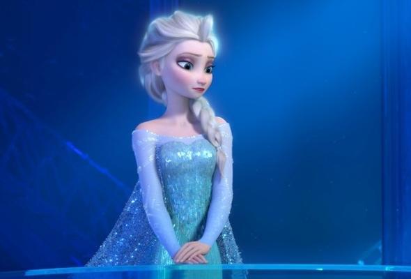 Eiskönigin Elsa (Frozen) Kleid (Stoff, Disney)
