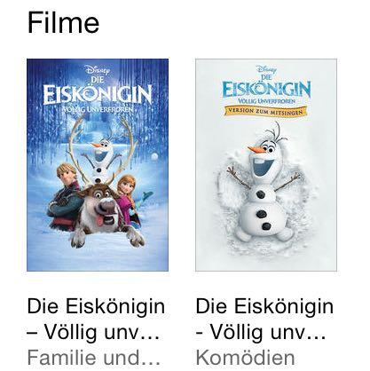 Die beiden Filme  - (Film, Unterschied, Eiskönigin)