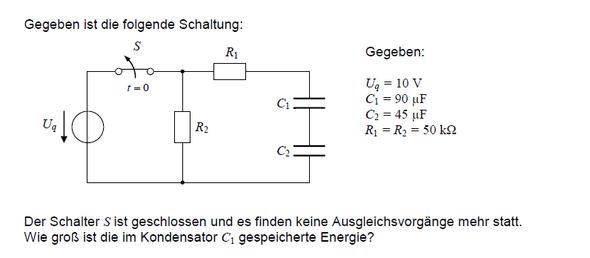 elektrische Schaltung Aufgabe? (Physik, Elektrotechnik)