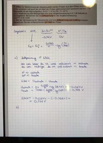 Elektrochemie pH Aufgabe?