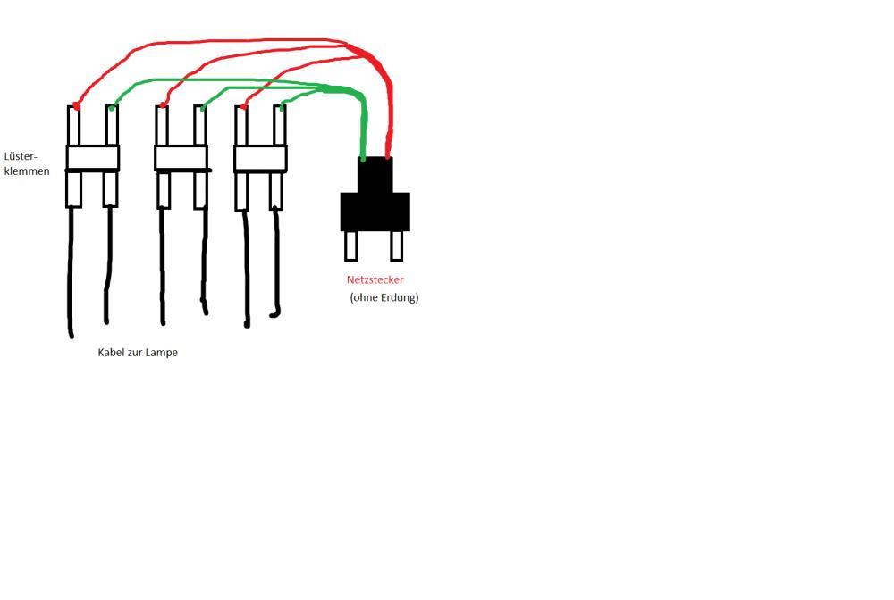 elektronik frage mehrere leuchtstoffr hren an einen netzstecker leuchtstoffroehre. Black Bedroom Furniture Sets. Home Design Ideas