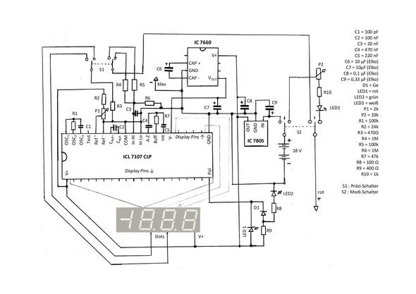 Elektronik-Problem: Voltmeter (Technik, Elektrotechnik, elektro)