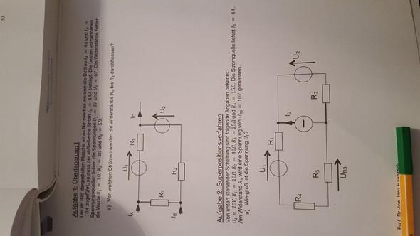Das sind die beiden Aufgaben die ich nicht lösen konnte  - (Elektrotechnik, Überlagerung superpositionsverfahren)