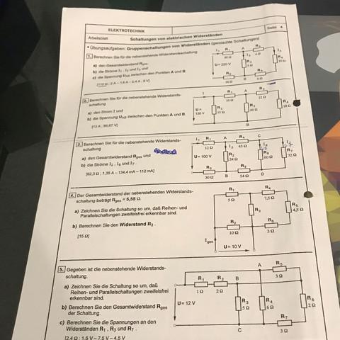 Elektrotechnik Elektrische Widerstände Hilfe? (Schule, Aufgabe)