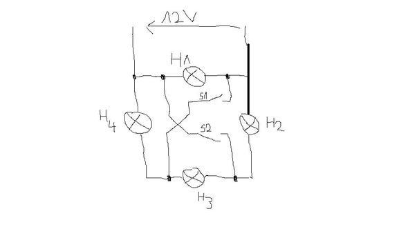 Zeichnung dieser Aufgabe - (Elektrotechnik, Schalter, parallelschaltung)