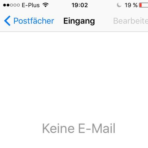 Da ist das Postfach, leer - (Handy, Apple, E-Mail)