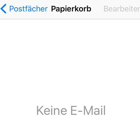 Papierkorb ist auch leer - (Handy, Apple, E-Mail)
