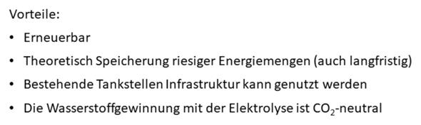 Energiespeicher Wasserstoff: Vor- und Nachteile?