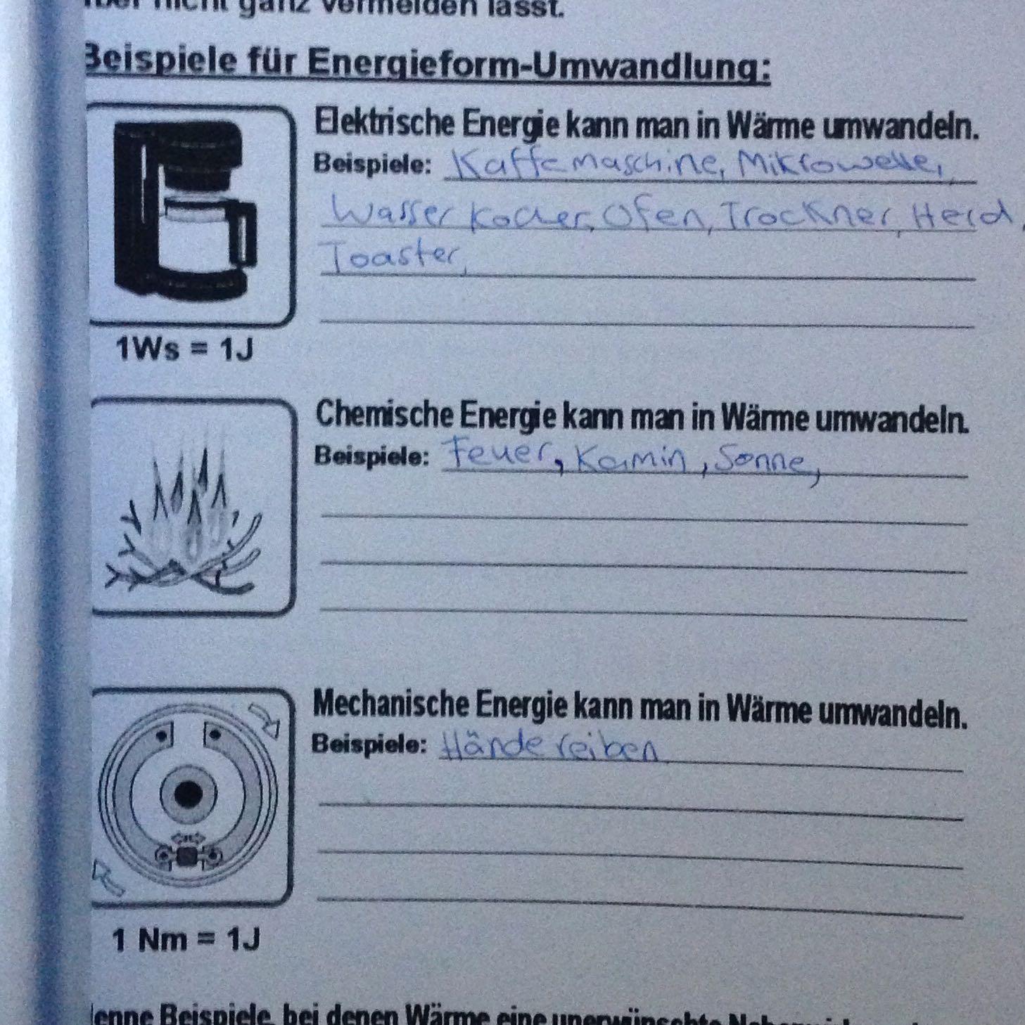 Energieumwandlung Im Alltag Physik Hausaufgaben
