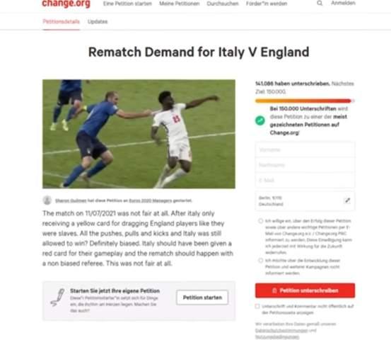 England demands repetition?
