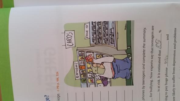 Cartoon - (Schule, Englisch, Hausaufgaben)