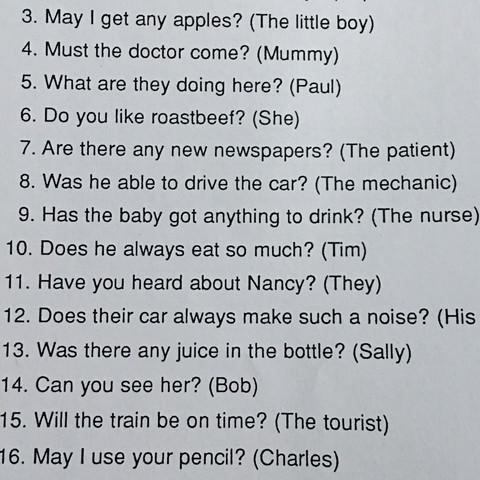 Nummer 8 - (Englisch, Hausaufgaben, reported speech)