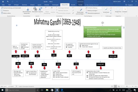 Mein Handout - (Englisch, Indien, gandhi)