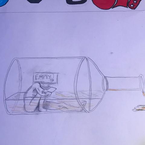 Das Bild  - (Schule, englisch, Alkohol)