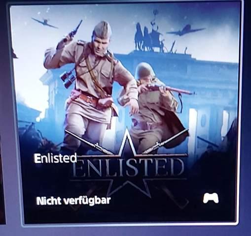 Enlisted, Download für PS5 nicht verfügbar?