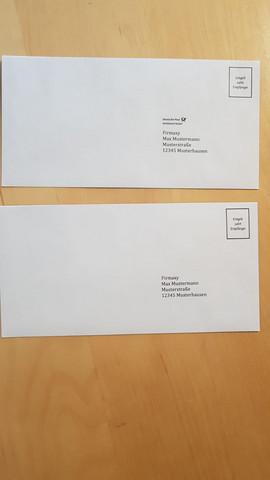 Empfänger absender briefe verschicken Briefe einfach