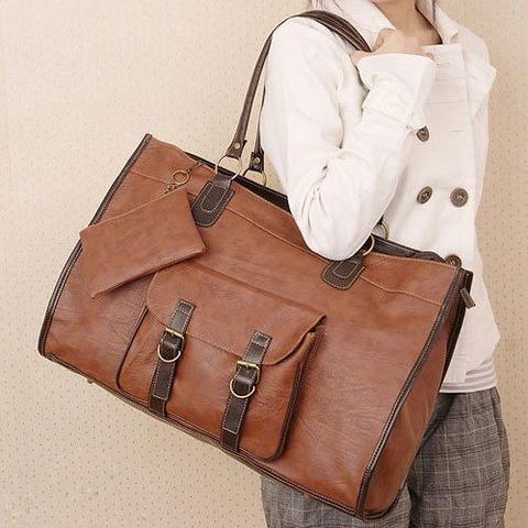 3. Braune tasche eckiger - (Schule, Frauen, Mode)