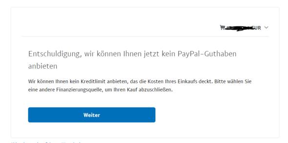 Paypal Kein Guthaben