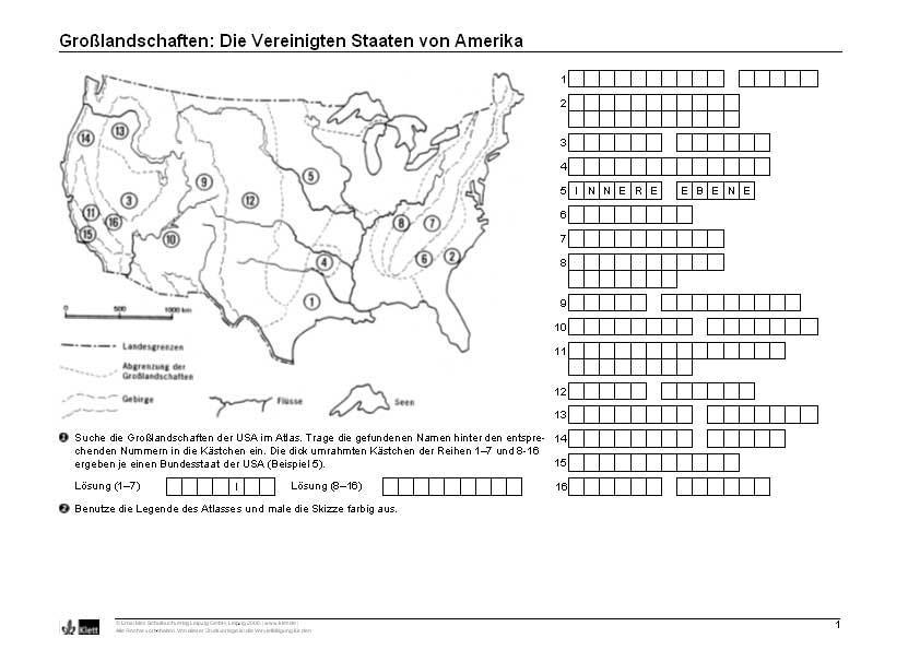 erdkunde großlandschaften usa (Geografie)