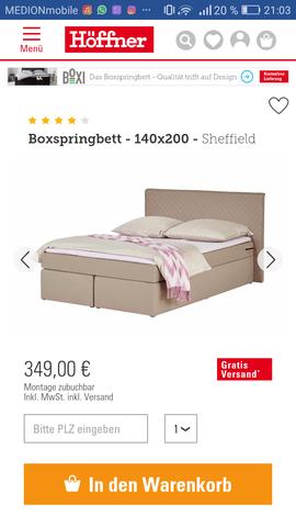 Erfahrungen Mit Dem Von Hoffner Kaufen Schlafen Bett