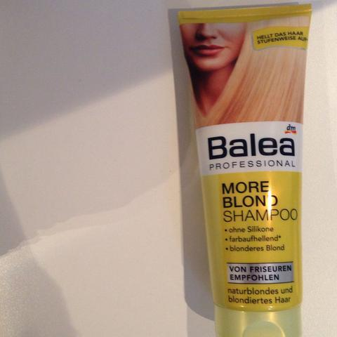 Balea more blond shampoo braune haare