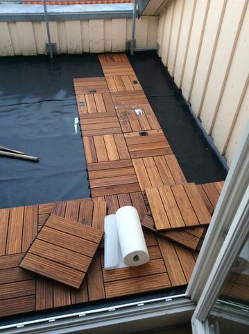 erh hung auf dachterrasse wegen stehendem wasser bauen stehen terrasse. Black Bedroom Furniture Sets. Home Design Ideas