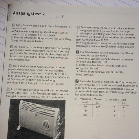 Das AB - (Mathe, Mathematik, ProportionaloderAntiproportional)